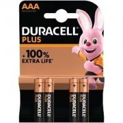 Duracell Pack de 4 piles AAA Duracell Plus Power (MN2400B4)