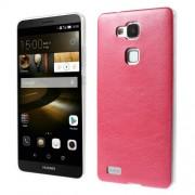 Кожен твърд гръб за Huawei Ascend Mate7 - червен