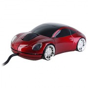 Sports Car Style USB Optical Wired Mouse 1000 DPI - Assorted Color