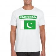Shoppartners Pakistaanse vlag shirt wit heren