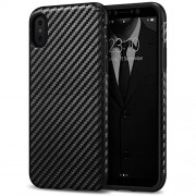 iPhone X Case Tasikar Good Grip Perfect Fit Case and Carbon Fiber Black Design for iPhone X