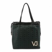 Geanta mare dama Versace Jeans material sintetic doua manere negru E1VSBBI3