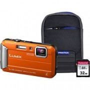 Panasonic Digital Camera Lumix DMC-FT30 16.1 Megapixel Orange + CD-ROM + 32GB SD Card + Case