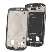 Frame ou carcaça intermédia Samsung Galaxy SIII S3 i9300 cinza