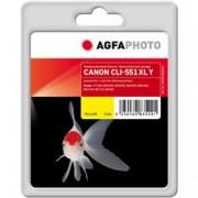 ORIGINAL Agfa Photo Cartuccia d'inchiostro giallo APCCLI551XLY Agfa Photo ~970 Seiten 11ml Agfa Photo CLI-551y XL (6446B001)