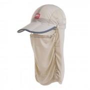De NatureHike transpirable de nylon de pesca extraible Visera Sombrero - Caqui