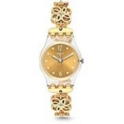 Swatch gold7197 Swatch Women's 25mm Gold-Tone Steel Bracelet Plastic Case Quartz Analog Watch LK360G Watch - For Women