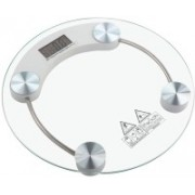 AmtiQ Bathroom 8mm Thick Glass 125kg Round Weighing Scale Weighing Scale(Multicolor)