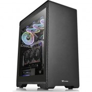 Carcasa Thermaltake S500 Tempered Glass, Middle Tower, fara sursa, ATX, neagra