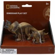 Set 2 figurine National Geographic Triceratops