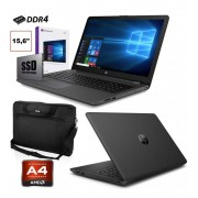 """HP PC PORTATILE NOTEBOOK HP 255 G7 SSD 256GB 15.6"""" DDR4 HDMI WINDOWS 10 PRO + BORSA *NUOVO*"""