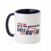 Olympique Lyonnais Mug personnalisable N°1 des supporters OL - Foot Lyon