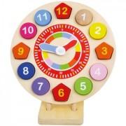 Puzzle ceas de lemn - Invata numerele