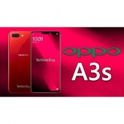 Oppo A3s with 6.22'' screen Dual rear camera 2gb RAM-16gb internal memory Red color