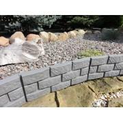 Gard de gradina tip piatra 2,2-gri