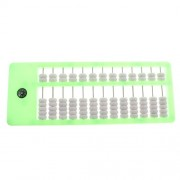 MagiDeal Portable Traditional Plastic Bead Abacus Kids Children Counting Numbers Educational Toy Gift Green
