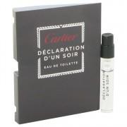 Cartier Declaration D'un Soir Vial (Sample) 0.05 oz / 1.5 mL Men's Fragrance 515958