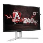 AOC gecontroleerde oorsprongsbenaming agon AOC ag251fz 63 cm (25 inch) monitor (DVI, HDMI, DisplayPort, USB 3.0, 1920 x 1080, 240 Hz, 1 MS, freesync) Zwart/rood