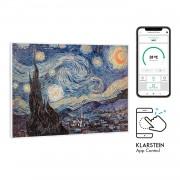 Klarstein Wonderwall Air Art Smart, инфрачервен нагревател, 80 х 60 см, 500 W, звезди (HTR10-WdwlS500wStarN)