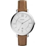 Fossil Jacqueline ES3708 - Horloge - 36 mm - Leer - Bruin