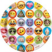 Unique Celebración Emoji, Platos de Cena , Multicolor