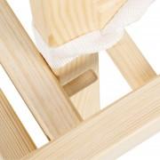 Scaun de masa multifunctional din lemn Aga Natur Alb Ursulet C2