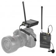 BOYA door-WFM12 VHF Draadloos microfoon systeem met zender en ontvanger voor DSLR camera's en videocamera's (zwart)
