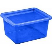 Cutie depozitare cu capac 18 litri albastru inchis
