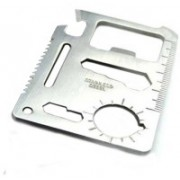 Anokhe Collections Multi Purpose Stainless Steel Card 12 Swiss Army Card(Silver)