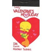 Looney Tunes Valentine Sticker Book ~ Tweety Bird with Bouquet of Hearts (136 Stickers)