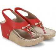 Jayn Martin Women Splendid Red::Marvellous Peach Wedges