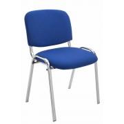 Sedia ospite impilabile KEN in tessuto, blu CLP, blu, altezza seduta