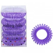 Rolling Hills Professional Hair Rings Transparent Dark Purple
