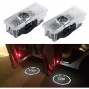 2 PCS LED Coche Puerta Bienvenido Logo Marca De Coches 3D Sombra Luz Para Mercedes - Benz