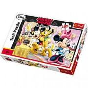 Puzzle Minnie Mickey si Pluto la un suc 160 pcs trefl