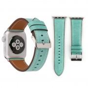 Voor Apple Watch serie 3 & 2 & 1 42mm frisse stijl Wrist Watch lederen Band (groen)