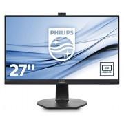 Philips 272b7qptkeb/00 27 cm (27 inch) monitor (VGA, HDMI, 2 x DisplayPort Daisy chain, 3 x USB 3.0, 2560 x 1440, in hoogte verstelbaar, Pivot geïntegreerde webcam) Zwart