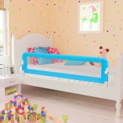 vidaXL Toddler Safety Bed Rail Blue 120x42 cm Polyester