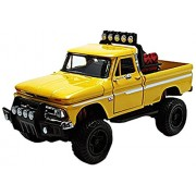 Motormax 79131y 1966 Chevrolet C10 Fleetside Pickup Truck Off Road Yellow 1-24 Diecast Model