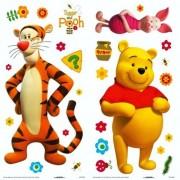 Crearreda adesivo murarle winnie pooh sticker my friends 2 fogli 15x31 cm