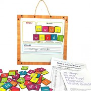 Mfm Toys Word Builder Magnetic Tiles With Magnetic White Board 96 Magnets)