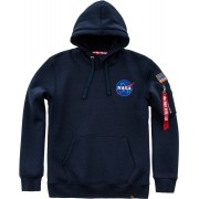 Alpha Industries Space Shuttle Mikina s kapucí L Modrá