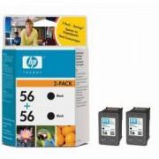 HP 56 + HP 56 Черни глави DeskJet 5550/2110/7150/7350/7550 - TWIN PACK ( C6656AE + C6656AE ) ( C9502AE )