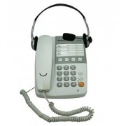 Sonics White 13 Memories Speaker Phone with Headset (HT-929 HS)