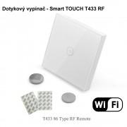 Dotykový bezdrôtový batériový vypínač - Smart TOUCH T433 RF