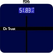 Dr. Trust (USA) Executive Rechargeable Digital Weighing Scale Electronic Weight Machine For Human Body with Temperature Display( USB Cable, Thermometer, Measuring Tape Included) Weighing Scale(Blue)