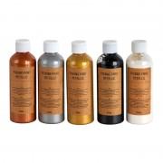 Xenos Pouring paint metallic - set van 5 - 100 ml