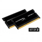 Kingston 16GB DDR3L-1866MHz SODIMM CL11 HyperX Impact Black, 1.35V, 2x8GB