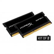 Kingston 16GB DDR3L-1866MHz SODIMM CL11 HyperX Impact Black, 1.35V, 2x8GB
