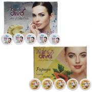 Skin Diva Pearl and Papaya Facial Kit Set of 2 C-520